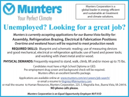 Munters Help Wanted 4/29/20